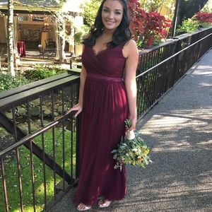 Burgundy/red wine color gown